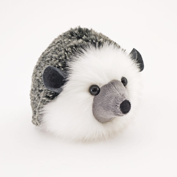 Hemingway the Black and Grey Hedgehog Stuffed Animal Plush