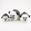 Hemingway the Black and Grey Hedgehog Stuffed Animal Plush Toy Group Shot