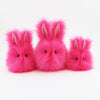 Petunia the Hot Pink Easter bunny plush toy, group shot..