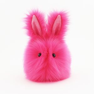 Petunia the Hot Pink Easter bunny plush toy, front view.