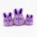 Lavender the Easter bunny plush toy, group view.