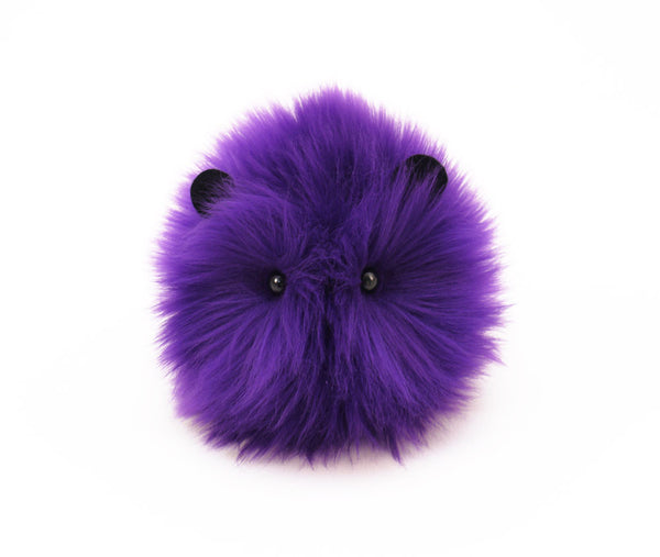 Bart the purple guinea pig stuffed animal plush toy front view.
