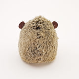 Sebastian the Brown Hedgehog Stuffed Animal Plush Toy back view.