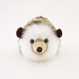 Sebastian the Brown Hedgehog Stuffed Animal Plush Toy front view.