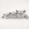 Comet the Light Grey Chinchilla Stuffed Animal Plush Toy group shot 2.