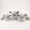Comet the Light Grey Chinchilla Stuffed Animal Plush Toy group shot 1.