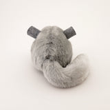 Comet the Light Grey Chinchilla Stuffed Animal Plush Toy back view.
