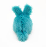 Breeze the aqua blue bunny stuffed animal plush toy back view.