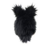 Blackie the Bunny stuffed animal plush toy back view.