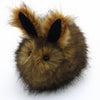 Rusty the Brown Bunny Stuffed Animal Plush Toy angled view.