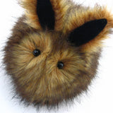 Rusty the Brown Bunny Stuffed Animal Plush Toy close up view.