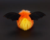 Candycorn the bat stuffed animal plush toy back view.