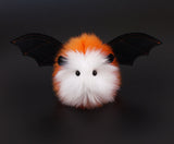 Candycorn the bat stuffed animal plush toy front view.