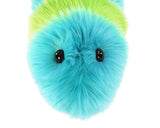 Lexi the Snuggle Worm Stuffed Animal Plush Toy close up view.