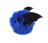 Jet the Dark Blue Bat Stuffed Animal Plush Toy side view.