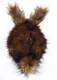 Rusty the Brown Bunny Stuffed Animal Plush Toy back view.