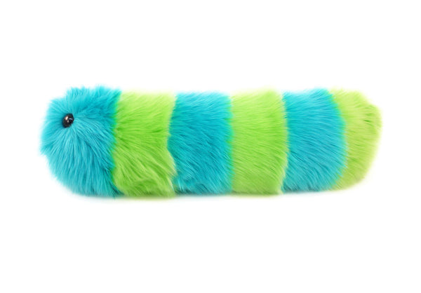 Lexi the Snuggle Worm Stuffed Animal Plush Toy side view.