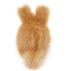 Honey the tan bunny stuffed animal plush toy back view.