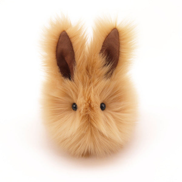 Honey the tan bunny stuffed animal plush toy front view.