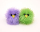 Micro Peep Chicks (Pair) Stuffed Animal Plush Toy, lavender and green shown.