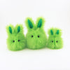 Herb the Easter bunny plush toy, group shot.