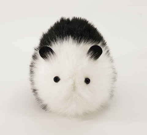 Panda the Black and White Guinea Pig Stuffed Animal Plush Toy front view.