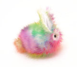 Prism the Rainbow Bunny Stuffed Animal Plush Toy side view.