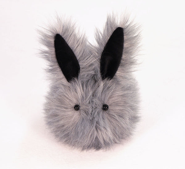 Sterling the Silver Grey Bunny Stuffed Animal Plush Toy front view.