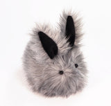 Sterling the Silver Grey Bunny Stuffed Animal Plush Toy angled view.