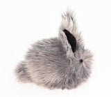 Sterling the Silver Grey Bunny Stuffed Animal Plush Toy side view.