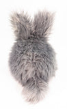 Sterling the Silver Grey Bunny Stuffed Animal Plush Toy back view.