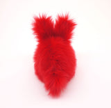 Zippy the Red Bunny Stuffed Animal Plush Toy back view.