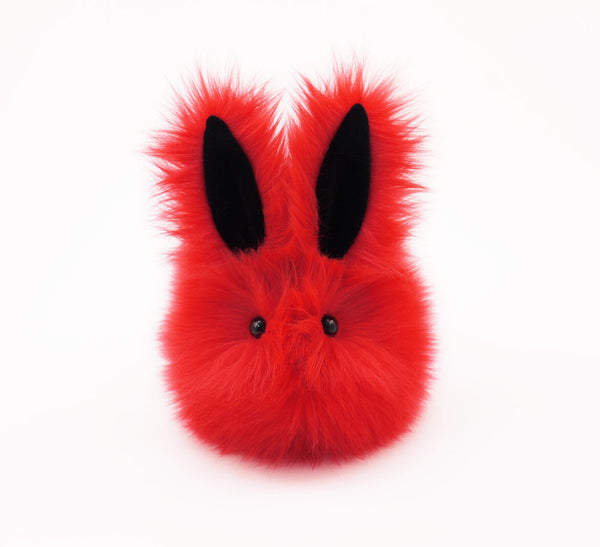 Zippy the Red Bunny Stuffed Animal Plush Toy front view.