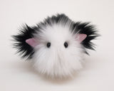 Tuffy Tuxedo the Black and White Cat Stuffed Animal Plush Toy front view.