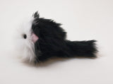 Tuffy Tuxedo the Black and White Cat Stuffed Animal Plush Toy side view.