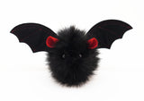Vlad the Red Eared Black Bat Stuffed Animal Plush Toy front view.