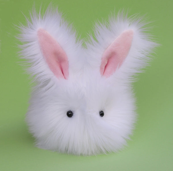 Cottonball the white bunny stuffed animal plush toy front view.