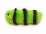 Iggy the snuggle worm stuffed animal plush toy side view.