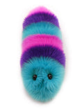 Calypso the snuggle worm stuffed animal plush toy front view.
