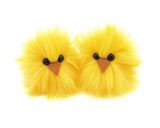 Micro Peep Chicks (Pair) Stuffed Animal Plush Toy, yellow pair shown.