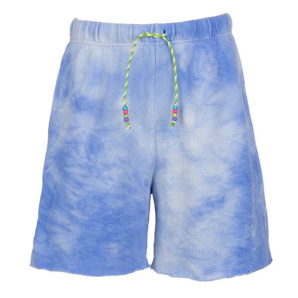 Tie Dye Shorts with Beaded Drawstring