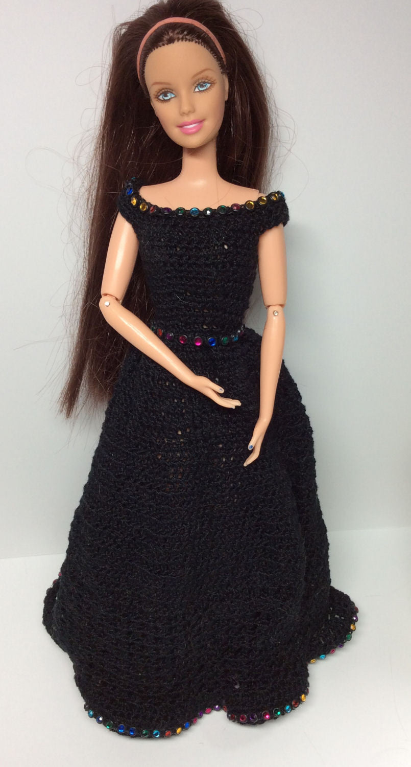 Mardi Gras Gown - Black with Jeweled Accents   Lost In Time A&C