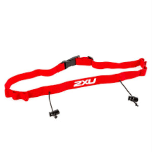 2XU Race Belt with loop - red