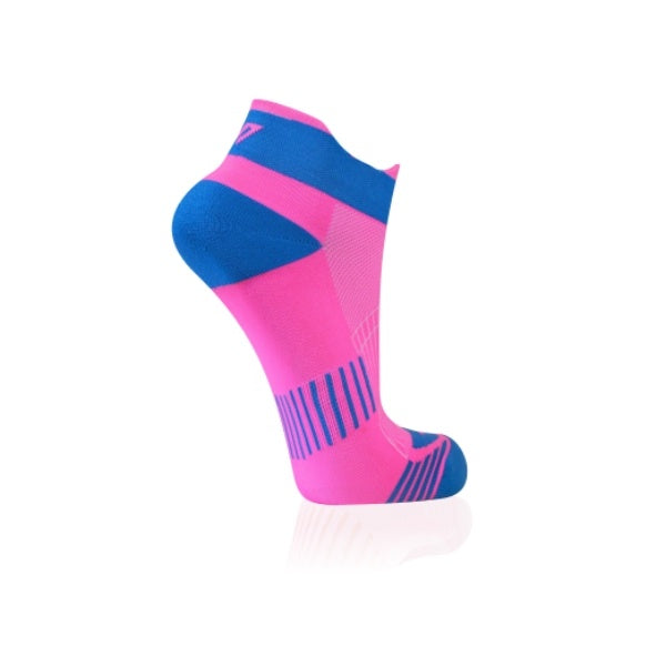 Versus Performance Running Hidden Socks Pink & Blue