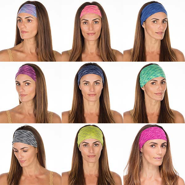 Grab Bag | 10 Best Selling Space Dyed High Performance Non Slip Headbands