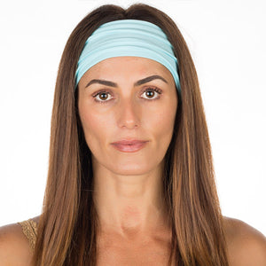 Baby Blue Cotton Non-Slip Headband