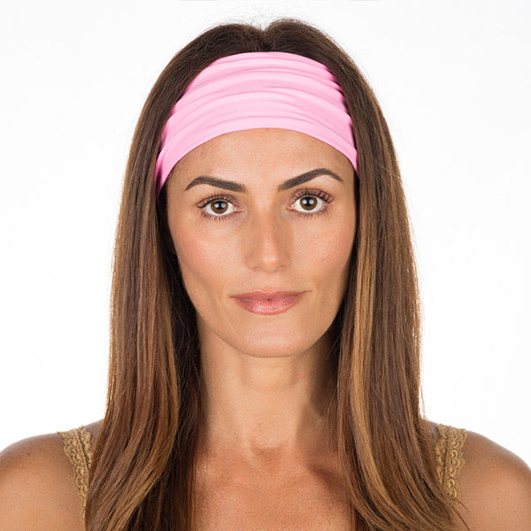 Baby Pink Cotton Non Slip Headband