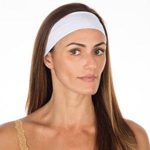 White Cotton Non Slip Headband