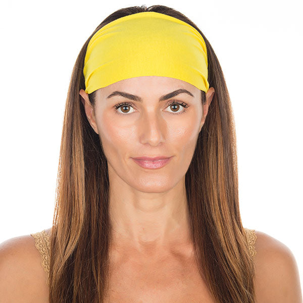 Bright Yellow Cotton Non-Slip Headband