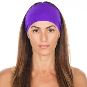 Vikings Purple Cotton Non-Slip Headband